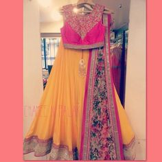 Chamee and Palak lehenga - lovely colours to liven up a mehendi party