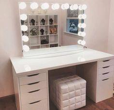 Pinterest Sorose95 Diy Makeup Vanity With Lights Alex Drawer Lighted