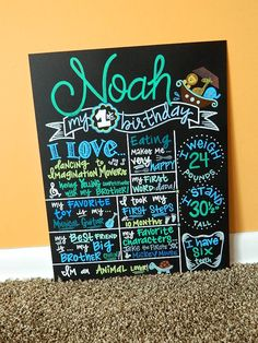 Hand Painted Birthday Chalkboard 1st Birthday