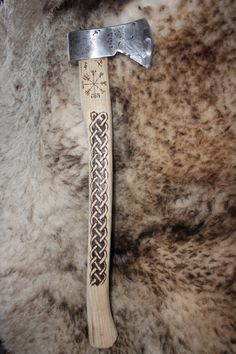 axe w/norse compass and celtic knot. For more Viking facts please follow and check out www.vikingfacts.com don't forget to support and follow the original Pinner/creator. Thx