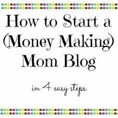Money making mom blog