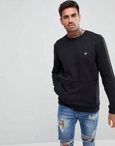 Lyle & Scott Sweatshirt With Front Pocket In Black - Black