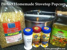 Perfect Homemade Stovetop Popcorn