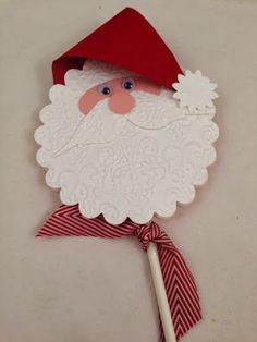 cute santa face to put on the side of a curvy keepsake box