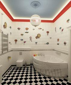 """Детский санузел """"Путешествие в облака"""". - Ванная комната 3D – Комфорт &…"""