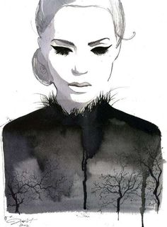 Calligraphic Fashion Illustrations : Jessica Durrant