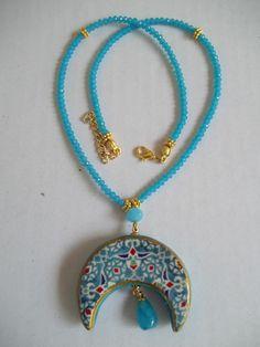 Ceramic Pendant, Ceramic Jewelry, Washer Necklace, Pendant Necklace, Play Clay, Ceramic Studio, Jewerly, Polymer Clay, Chokers