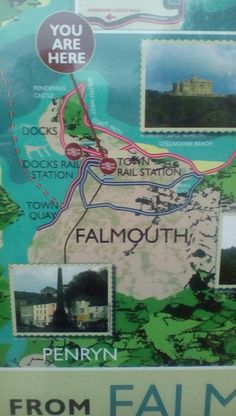 Map at Falmouth town station