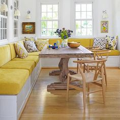No matter what style of banquette you want to build for your kitchen or dining space, it all starts with a basic frame. You will need a frame that is sturdy and won't fall apart on you when guests sit down, so work out the length of the space where the banquette will be situated and divide this into partitions of about 500mm wide. - See more at: http://www.home-dzine.co.za/dining/dining-banquette-ideas.html#sthash.4UpSfaU3.dpuf