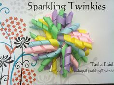 Pastel Large Korker Bow   Spring Color Loves by SparklingTwinkies, $6.00