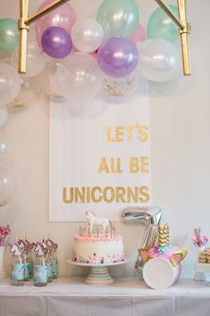 Let's all be unicorns! A simple and magical unicorn party