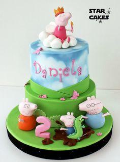 tarta princesa peppa pig cake   Síguenos en https://www.facebook.com/starcakes.es