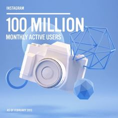 100 Millionen monatlich aktive User #instagram #socialmedia