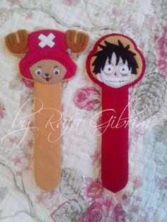 Marca-página do Chopper e do Luffy - One Piece