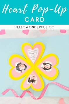 How to make a DIY Heart Pop-Up Card. Mother's day craft for kids