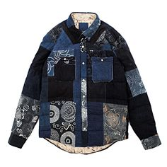 The founder of cult workwear favorite Visvim shares his vintage inspirations.Down-filled shirt jacket made from 150-year-old indigo fabric.