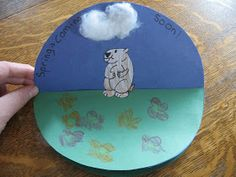 Almost Unschoolers: Groundhog Day Craft