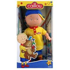 Caillou Doll 14in/36cm  Available Now at Amazon.com/Caillou http://www.amazon.com/dp/B00477X8SS/ref=cm_sw_r_pi_dp_zpc6sb046PKD0JV2 #Caillou #Doll #Fun #Toy #Presents #Gifts #kids