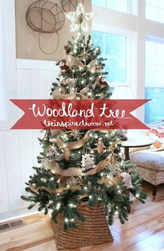 Having an HGTV HOME Christmas? This tree would look great with our Woodlands collection! woodland themed #Christmas tree