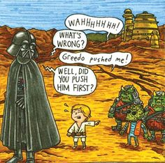 """12 very cute illustrations from the children's book """"Darth Vader and Son"""" written and illustrated by Jeffrey Brown,"""
