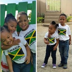 Happy kids ready for Jamaica Day