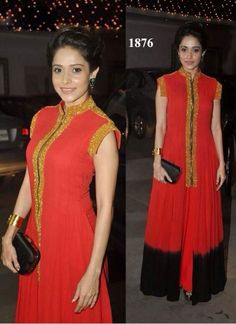 Bollywood Actresses Floor Length Anarkali Gown