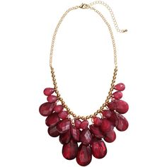 H&M Short necklace (100 MXN) ❤ liked on Polyvore featuring jewelry, necklaces, burgundy, plastic jewelry, pendant jewelry, h&m necklace, plastic necklace and adjustable necklace