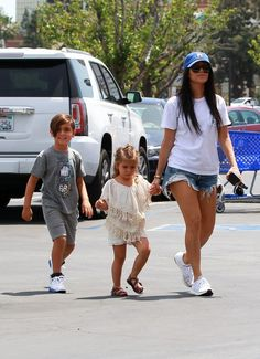 Kourtney Kardashian takes her kids Mason and Penelope toy shopping and to run errands on April 21, 2016