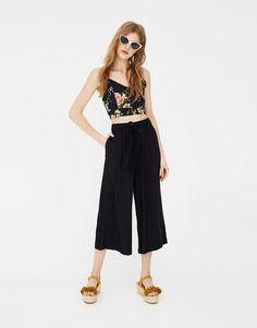 Basic culotte trousers - New - Woman - PULL&BEAR United Kingdom
