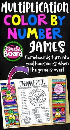 These multiplication color by number games for facts 2-12 will be a blast for your students! The games are designed to be a fun mix of mastery, play, and creativity! Students will develop stronger problem solving skills and increase multiplication fluency