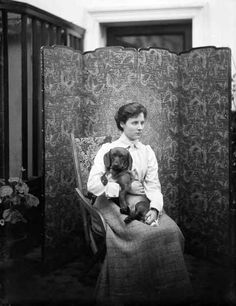 Lady Susan Beresford & dog, Ireland