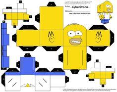 Cubee - Homer Simpson by CyberDrone.deviantart.com on @deviantART