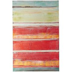Bold yet weathered colors combine to create a large vibrant canvas that never grows old. Deftly hand-painted, our dusky masterpiece reveals its more subtle charms over time, as light shifts across its surface, from season to season. Abstract Canvas Wall Art, Colorful Animals, Unique Wall Art, Canvas Home, Color Inspiration, Sunset, Nature, Painting, Surface