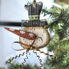 Primitive Christmas Ornaments | Primitive Rustic Snowman Ornament - Christmas Holiday Sale - Sales