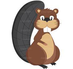 Cute Beaver Illustration | Woodland Nursery Clipart | Shanna Riehl Art Shoppe | $1.95