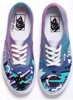"""Custom Vans designed by a group of artists for the Sneak It """"Off the Wall"""" Exhibition"""