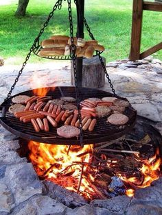 fire bbq pit old fashioned pit fire pit bbq designs Diy Fire Pit, Fire Pit Backyard, Backyard Fireplace, Fireplace Ideas, Outdoor Fireplaces, Backyard Bbq, Fire Pit Grill, Outdoor Fire Pits, Camping Fire Pit