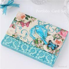 ポートフォリオカードセット<青い鳥>【PUNCHSTUDIO】/~premical~