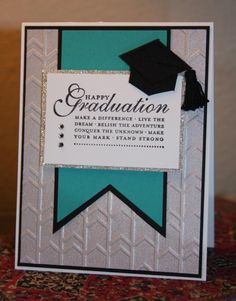 Graduation in Silver and Teal by CAKath - Cards and Paper Crafts at Splitcoaststampers