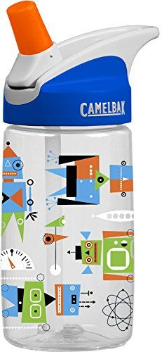 CamelBak Kid's Eddy Water Bottle, Atomic Robots, .4-Liter CamelBak http://www.amazon.com/dp/B00NXX0MFE/ref=cm_sw_r_pi_dp_bqb.vb1M045FM