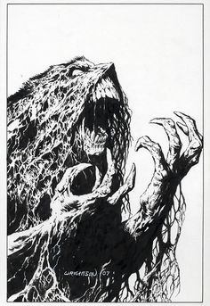Legendary artist Bernie Wrightson has been creating horror art for over 45 years. Comic Book Artists, Comic Books Art, Comic Art, Arte Horror, Horror Art, Gravure Illustration, Illustration Art, Bernie Wrightson, Horror Comics
