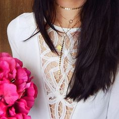 Dainty gold layers