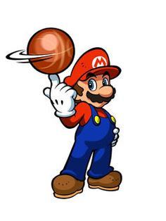 #Mario is so cool. I wish I could spin a #basketball on my fingertip. More info on Mario Hoops 3 on 3 at More info on this game at http://www.superluigibros.com/mario-hoops-3-on-3