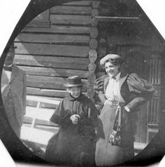 Female tourists. 1890's. Spy photo by Carl Størmer.