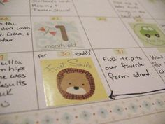 make a baby's first year calendar, which is easier to keep up with than a baby journal