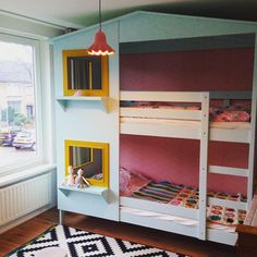 The girls new bunk bed (or 'bunk flat as they call it themselves ;-)).