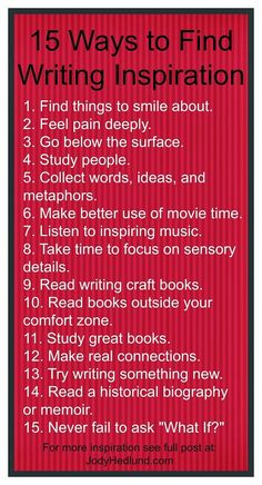 Author, Jody Hedlund: 15 Ways to Find Writing Inspiration in 2015 (writing advice for finding your spark of inspiration) Creative Writing Tips, Book Writing Tips, Writing Words, Writing Quotes, Writing Process, Writing Resources, Writing Help, Writing Skills, Writing Ideas