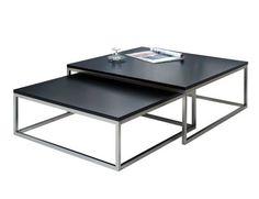 Salontafel set New Fusion Zwart - 37118 Zen House, Design Tisch, Colour Black, Laque, Wood And Metal, Living Room Designs, Teak, Table Settings, Home
