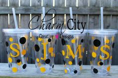Personalized Plastic Clear Tumbler Iced Coffee Cup by ahindle78, $12.00