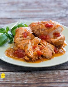 Slow Cooker Tomato Sriracha Chicken from Best Recipe Box; this is easy to make and sounds delicious!  [Featured on SlowCookerFromScratch.com]